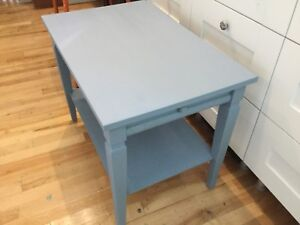 2 Jean blue side tables with small drawers