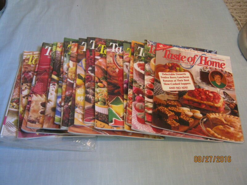 LOT OF 19 TASTE OF HOME MAGAZINE 1997-2000 EDITED BY 1,000 COUNTRY COOKS No Ads