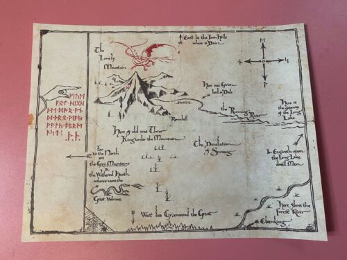 The Lord of The Rings Middle Earth The Hobbit Sorin treasure Collect map Prop