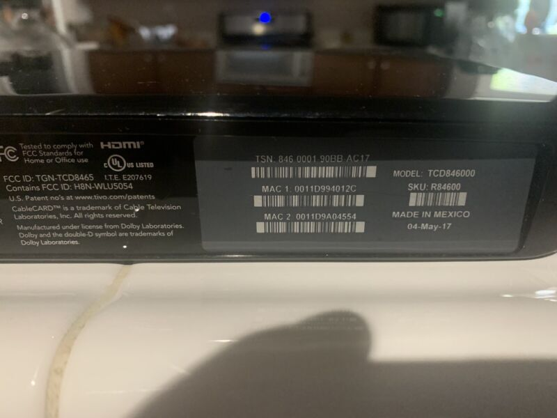 TiVo Roamio OTA 1 TB with All-in Lifetime Service Remote TCD846000