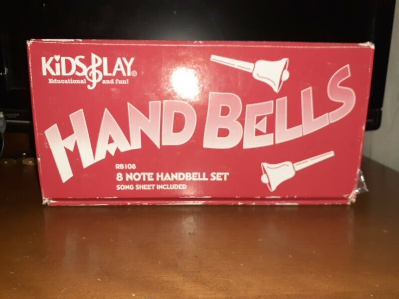 RHYTHM BAND INSTRUMENTS (HAND BELLS ) RB 108-8 (8 HANDBELLS )EXCELLENT CONDITION