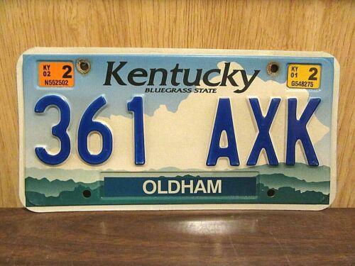 2002 Kentucky License Plate Tag # 361-AXK