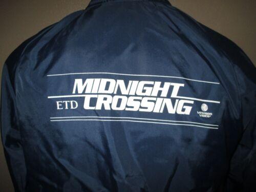 MIDNIGHT CROSSING -MOVIE 1988 Promotional Windbreaker Jacket New Mens Large NAVY