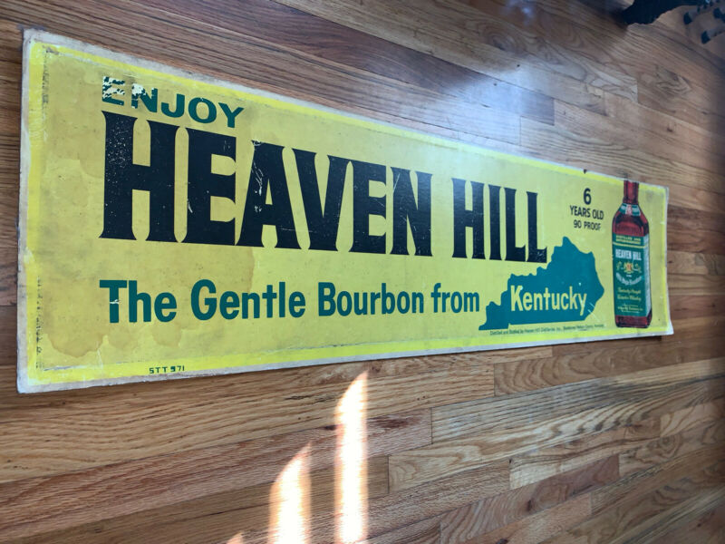 Heaven Hill Bourbon Vintage Distillery Advertising Sign