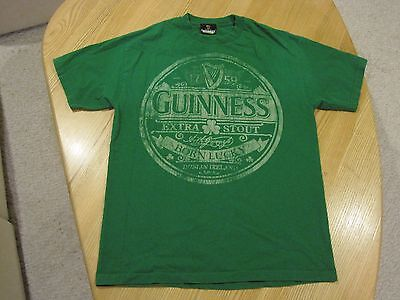 Guinness Beer Dublin T Shirt Green 100  Cotton Large