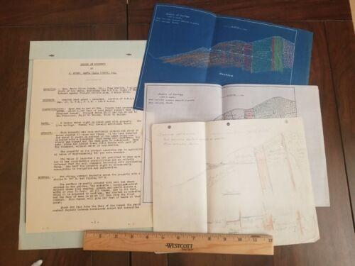 c. 1920 Santa Clara County California Mining Geology Report Los Gatos