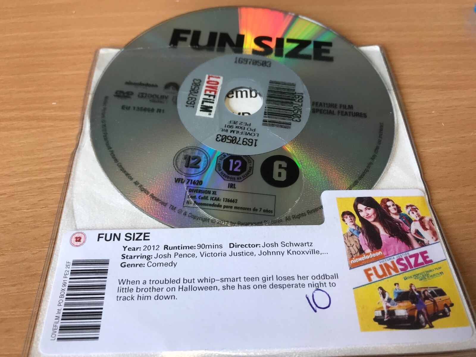 Fun Size (DVD, 2013) DISC ONLY