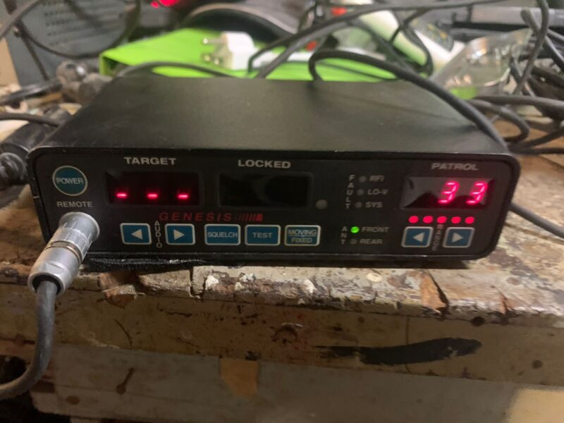 Decatur Genesis I Police Radar Dual Antenna  (Front and Rear) - Tested