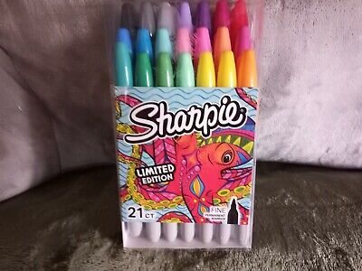Sharpie Limited Edition Permanent Markers Fine Point 21ct. Free Shipping Gift