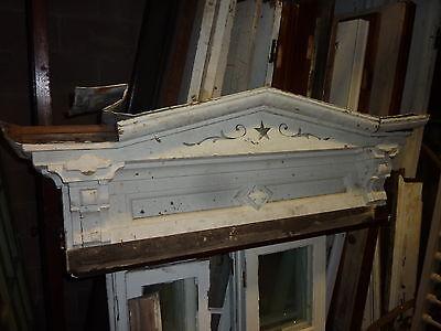 - FANCY c1860 gingerbread style WINDOW pediment header 57