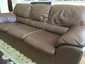 Leather couches from chesterfield shop 500.00