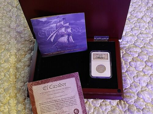 1783 MO Mexico 2 Reales El Cazador Ship Wreck Coin NGC GENUINE W/BOX,COA & BOOK
