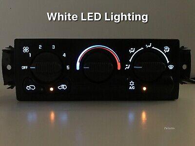 00 01 02 Silverado Sierra Heater AC Climate Control WHITE LED