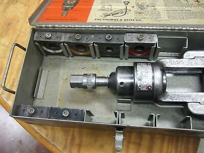 Thomas Betts Tb 13642 Crimper Hydraulic Tool Crimping With 6 Dies