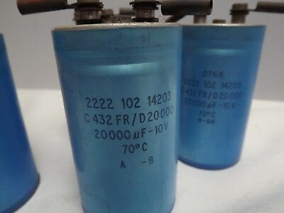 Capacitor [ Large ] 20,000uf [ Induction coils ] A1 Condition { 10 Volts }