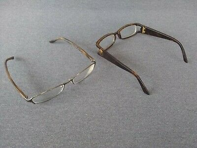 VINTAGE LOT OF 2 AUTHENTIC GUCCI EYEGLASS FRAMES.