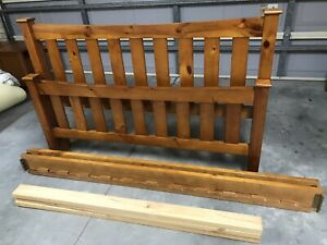 Good quality wood queen bed frame (no mattress)
