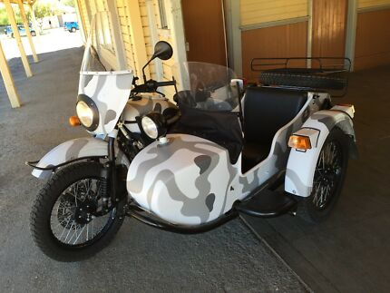 2015 Camoflauge Ural Sidecar Outfit and Extras