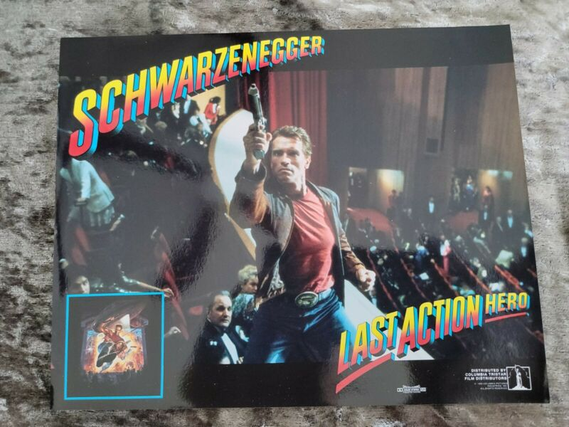Last Action Hero lobby cards - Arnold Schwarzenegger - Set of 8 mini stills