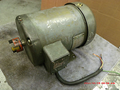 Baldor 2 hp Electric motor 220 230 240 v. volt 3 ph 1725 rpm very silent nice