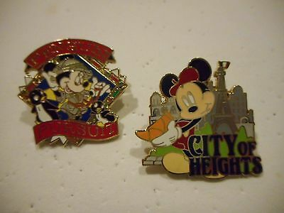 Mickey City Of Heights & Minnie Penguin Pursuit Set 2 Adventure By Disney Pins