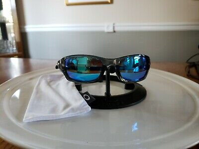 Oakley Five Squared Clear Blue 3.0 Frames with NEW Galaxy Polarized Blue Lenses