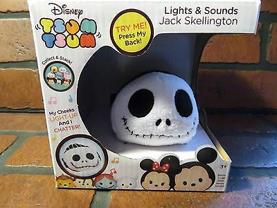 NIGHTMARE BEFORE CHRISTMAS Disney Tsum Jack Skellington Lights & Sound NEW
