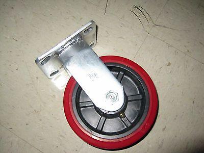 Heavy Duty 6 Inch Rigid Caster Polyurethane Wheel
