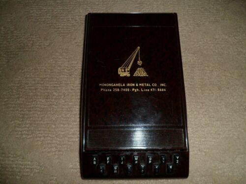 Vintage Monongahela Iron & Metal Co. Autopoint Index Flip Address Book