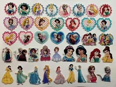 40 Pcs princess Mixed Lot Flatback Resin Cabochon Hair Bow Center Supplies. for sale  Perris
