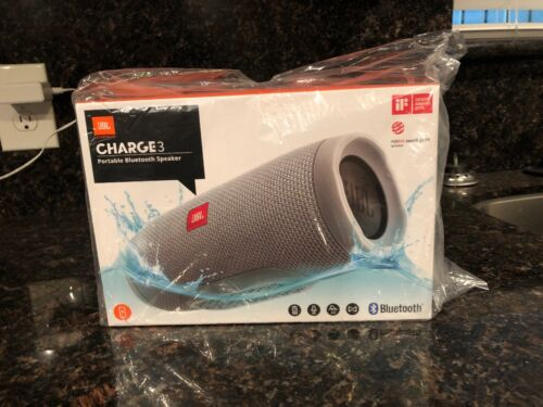 JBLCHARGE3GRY JBL Charge 3 Waterproof Portable Bluetooth Spe