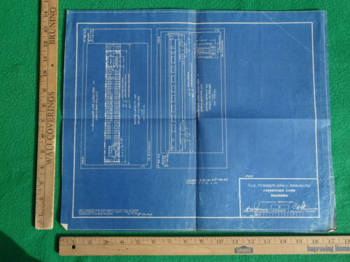 Pennsylvania RR PRR Diagram Passenger Car Diagrams 1941