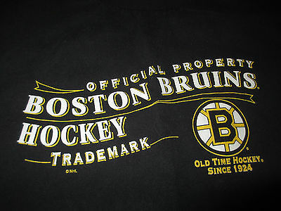 Official Property Boston Bruins Hockey Trademark  Med  T Shirt