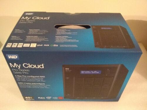 Western Digital 40TB My Cloud Pro PR4100 4-Bay NAS WDBNFA0400KBK-NESN