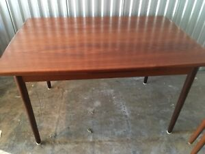 Beautiful Mid century modern Teak draw leaf dining table
