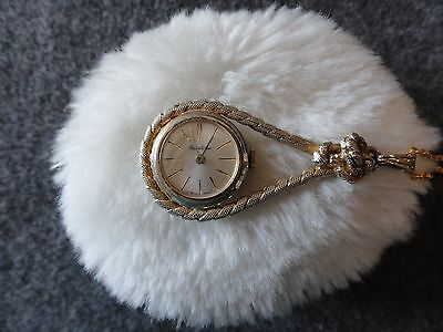 Vintage Swiss Made Hawthorne Wind Up Necklace Pendant Watch