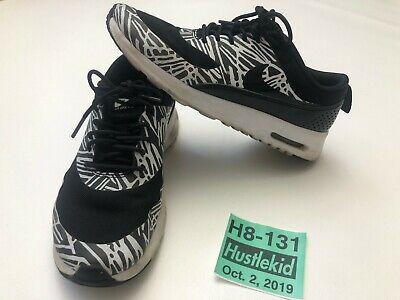 Nike Air Max Thea Print Women Sneaker Shoes Black/White (599408-010) Size