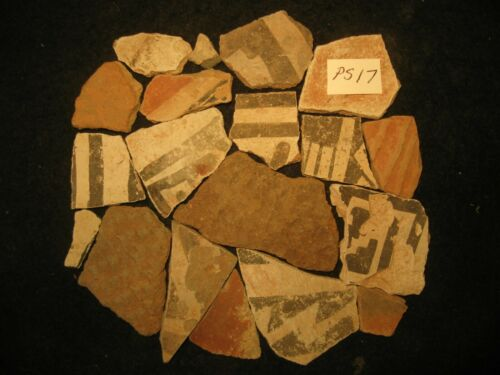Arizona Anasazi Pottery Shards, Prehistoric American Indian Artifacts Lot, #PS17
