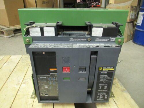 800 AMP SQUARE D MP08H1 MASTERPACT BREAKER 3P 600V  STR58U W/ LSI 600A SENSOR