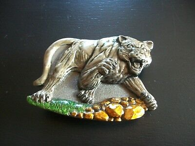 MOUNTAIN LION VINTAGE BELT BUCKLE DATED 1995, TANSIDE LTD ENGLAND