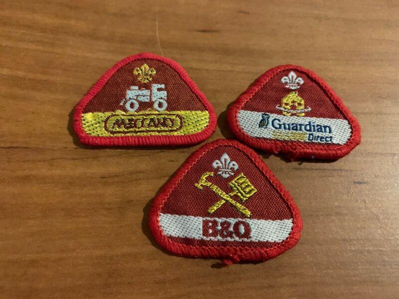 Three (3) 1990's Sponsored Achievement Badges, UK Scout Association