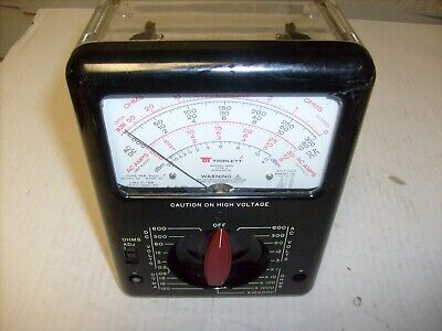 See Thru Triplett Model 630 Type 4 Classic Analog Voltmeter W Clear Case As-is