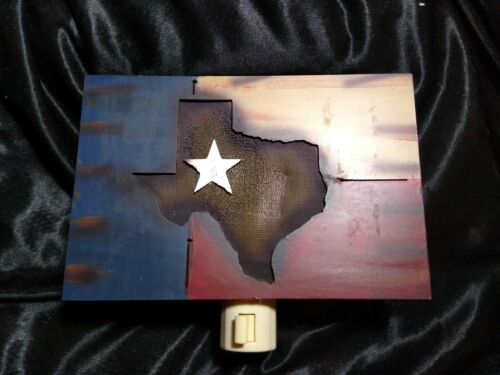 Metal Texas Night Light. Farmhouse Rustic Cowboy Ranch  - $7.00