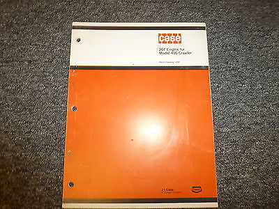 Case Model 207 Engine For 450 Crawler Tractor Dozer Parts Catalog Manual Book