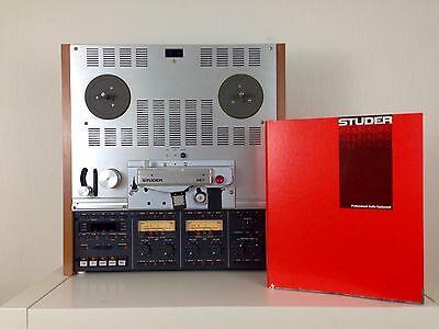 Studer A 807 VU / Holzseiten / Manual - Serviced und Top Zustand