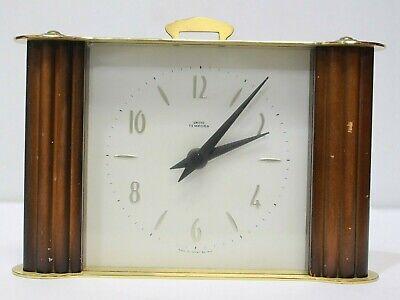 Vtg SMITHS TEMPORA Art Deco Style Mantel Clock, Battery Operation Working - 232
