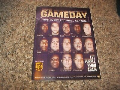 University of Washington Football GAME DAY Program UW VS Arizona State (Arizona State Vs University Of Arizona Football)