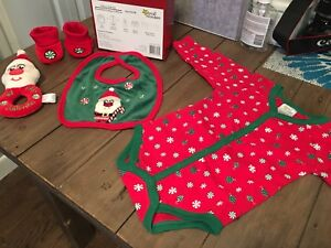5 piece baby's first Christmas set