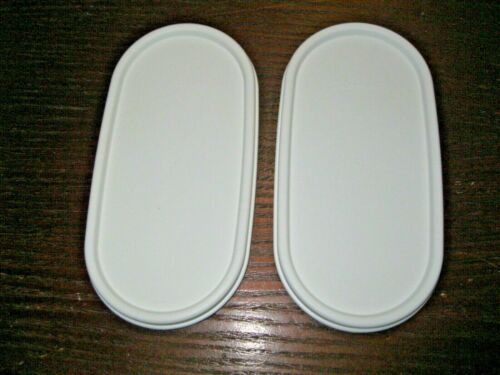 TUPPERWARE REPLACEMENT LID / SEAL ~ Set of 2 ~ Modular Mates OVAL ~ WHITE