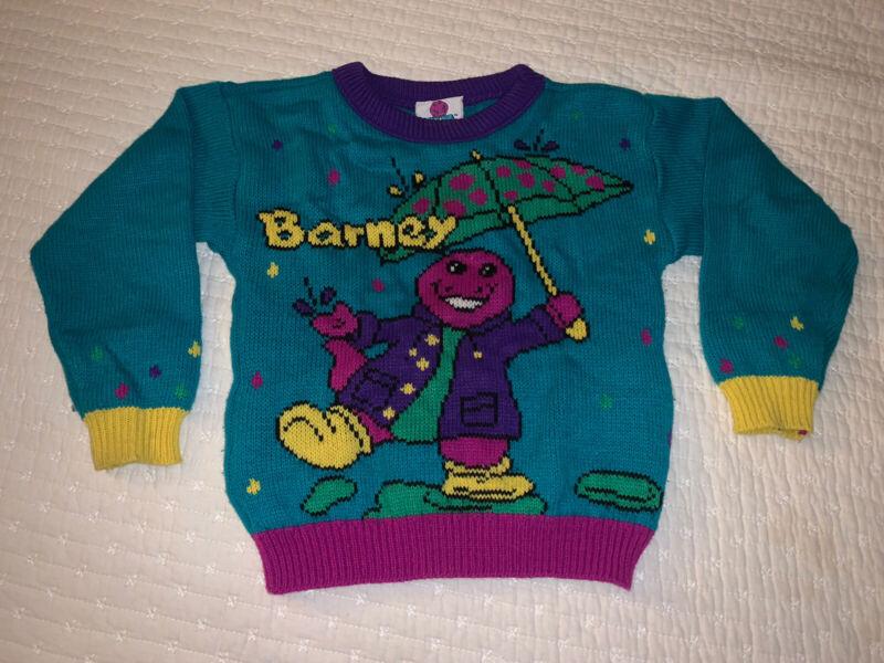 Vintage RARE Child/Kids 1992 Knit Barney Sweater